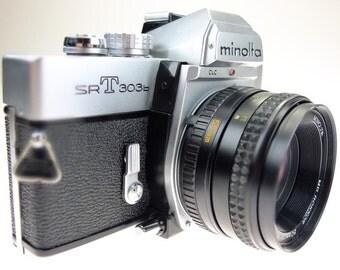 Camera Minolta SRT 303b Rokkor 50mm F1.7