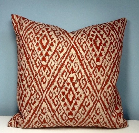 Throw Pillow Rust : Boho throw pillow. Rust Tribal throw pillow bohemian decor