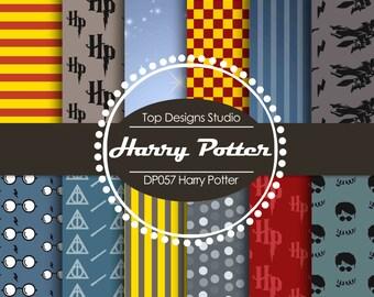 "SALE Harry Potter Digital Paper : ""Harry Potter DIGITAL Paper""- Harry Potter ClipArt, Harry Potter Digital Scrapbook Paper"