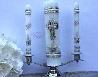 Wedding Unity Candle Set with a base