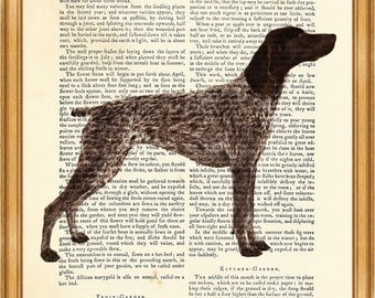 German Shorthaired Pointer DICTIONARY ART PRINT on Vintage Dictionary Page 8'' x 10'' from Antique Book