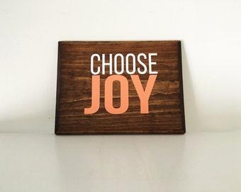 Choose Joy wood sign | Gallery Wall sign | Inspirational | Optimistic signs | Happy signs