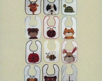 BABY BIBS By Little Quilt Company - 12 Fun Bibs with Animals and More!