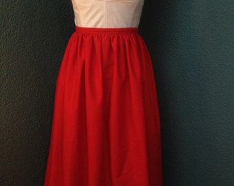 50s style skirt repro red