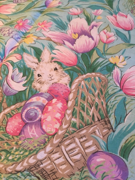 Large Vintage Easter Tablecloth