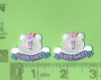 "Pair of ""beary sweet"" iron on patches"