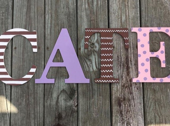 hanging wooden letters painted wooden letter name wall hanging painted letters 22080 | il 570xN.1059943677 f3wg