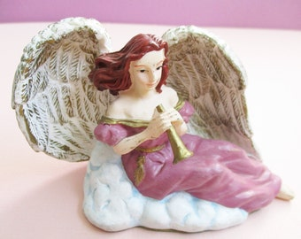 Classic Collectibles Christmas Angel Figurine Charity Angel Decorative Angel Sculpture Christmas Decor Vintage Collectible 1996