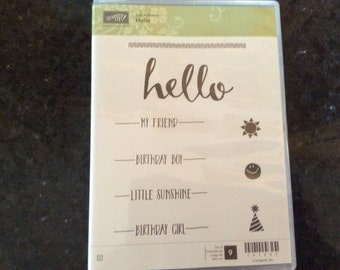 "Stampin Up ""Hello"" stamp set"
