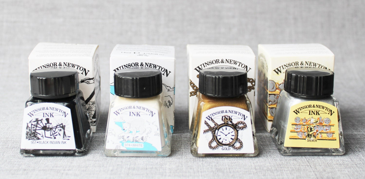 Winsor Newton Calligraphy Ink Calligraphy Kit Black