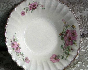 American Limoges 'Wild Rose' Serving Bowl circa 1949
