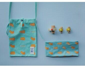 Canvas Cross Shoulder Bag -Ono Salmon