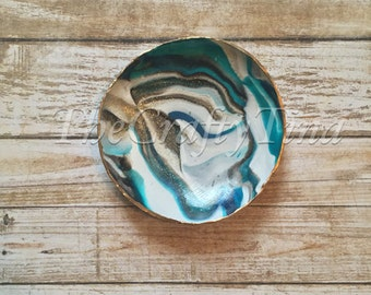 Marbled Clay Ring Trinket Dishes