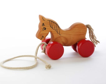 Wooden Horse Pull Toy - Toddler Gift