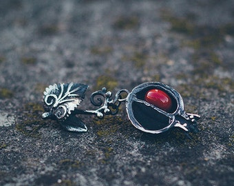 "Silver handmade pendant ""Forbidden fruit"""