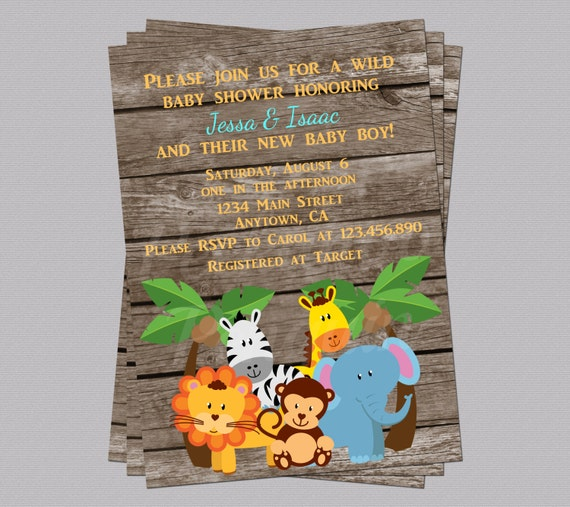 jungle baby shower invites zoo animal baby shower jungle, Baby shower invitations