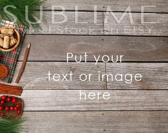 Styled Stock Photography / Christmas Styled / Product Styling / Digital Background / Wood Background / JPEG Digital Image / StockStyle-592