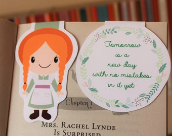 Set of Anne of Green Gables Magnetic Bookmarks | Anne Shirley and Quote
