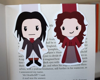 Set of Wuthering Heights Magnetic Bookmarks | Catherine and Heathcliff