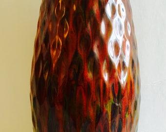 Vintage California Originals Glazed Ceramic Vase - Unusual Form and Glaze - 1960s - Rare