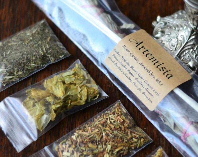 SWEET DREAMS SMUDGE, sleep, dreams, smudge stick, wicca herbs, witch herbs, pagan altar, spell herbs, herb sachets