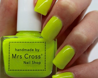 Blondie - 5ml - Bright Yellow Neon Nail Polish - handmade in the UK