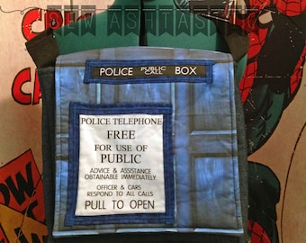 Doctor Who TARDIS Inspired Messenger
