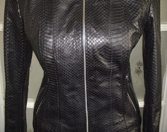 Snake Queen - ladies' leather jacket of real snakeskin