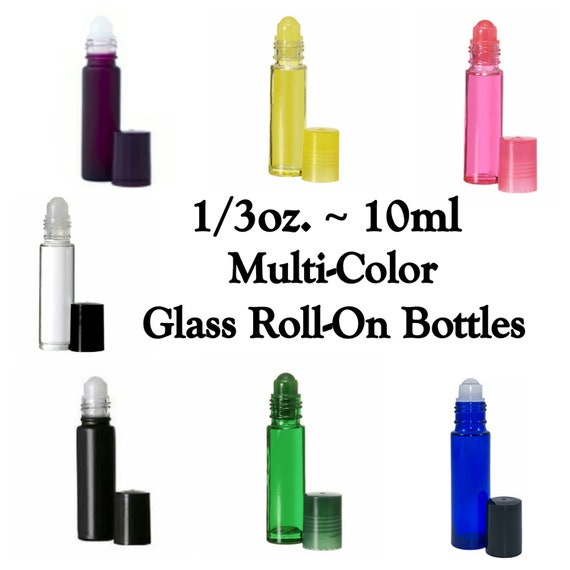 35 Off Sale Multi Color Glass Roll On Bottles 1 3 Oz