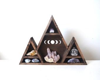 Mountain shelf, Triangle shelf, Geometric shelf