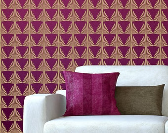 """Removable Decal Wallpaper Art Deco 22"""" x 44"""" Seamless Continuous Design ~ Item 433"""