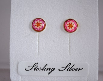 Wicked Welsh Designs Flower Earrings