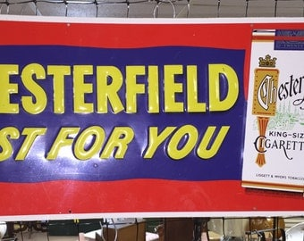 Chesterfield Cigarette Sign