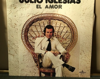 Julio Iglesias - El Amor LP vintage record seventies 1970s 70s spanish music