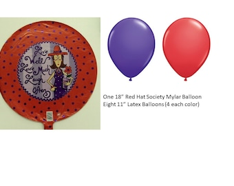 Red Hat Society Balloon Set