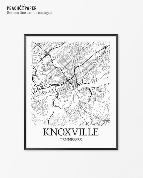 Knoxville Map Art Print Knoxville Poster Map Of Knoxville