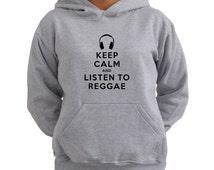 Keep Calm and Listen To Reggae Women Hoodie