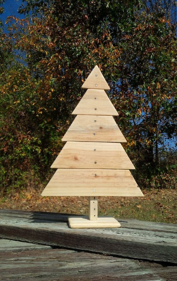 Wooden christmas tree recycled pallet wood by woofpackdesignz Christmas trees made out of wood