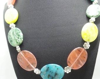 Mixed Stone Beaded Necklace.