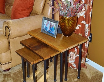 Reclaimed Barn Wood Nesting Tables