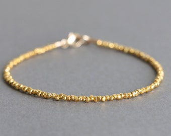 Simple Gold Bracelet Karen Hill Gold Vermeil Bracelet 24K Gold Vermeil Beaded Bracelet