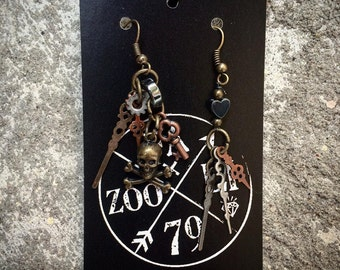 Limited Edition Fazooli Out of Time Pirate Earrings