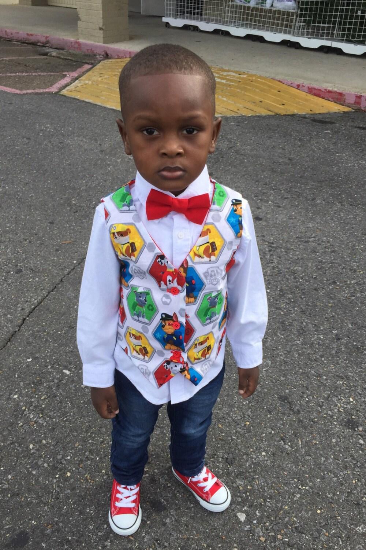 Paw Patrol Baby Toddler Boys Outfit Shirt Tshirt Tuxedo Vest