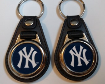 New York Yankee  baseball keychainns 2 pack