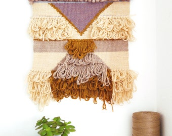 Totem - large contemporary weave - woven hand - weaving wall - Big woven wall hanging - Tapestry weaving Fiber Art
