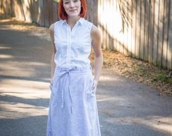 Vintage Lavender Wrap Skirt
