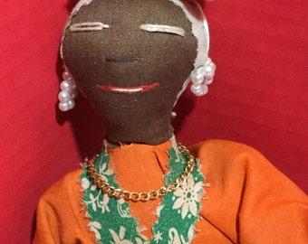 Vintage Jamaican Island Doll
