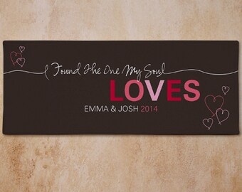 Romantic Couples Canvas- Personalized, The One My Soul Loves Canvas Print