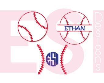 Baseball svg, Baseball monogram svg, Softball Monogram svg,  SVG, DXF EPS, for use in Silhouette Studio and Cricut Design Space