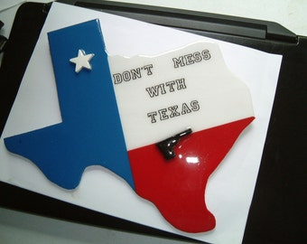 """Texas Plaque, Don't Mess With Texas 10 X 10 1/2"""""""
